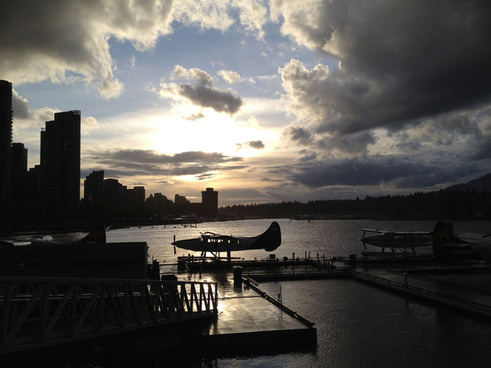 stormy sky over vancouver