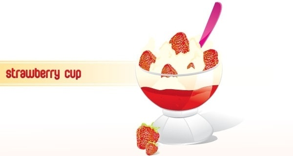 Strawberry Frozen Yogurt Cup