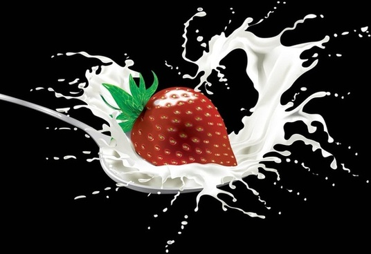 strawberry graphics food vector