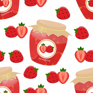 strawberry jam jar icon various red icons decoration