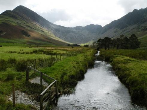 stream mountain summer