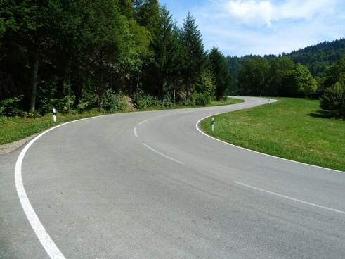 street curves black forest