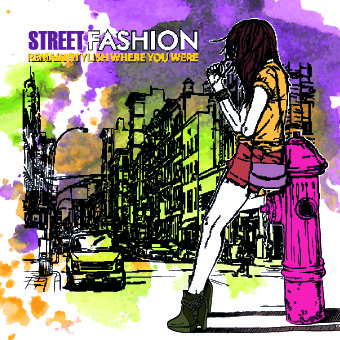 street fashion design elements vector