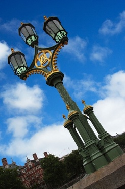 street lamp in london