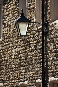 street lamp on wall