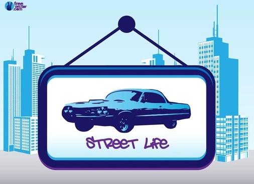 street life free vector