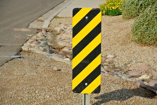 street sign hazard