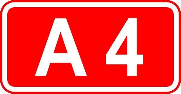 Street Sign Label A4 clip art