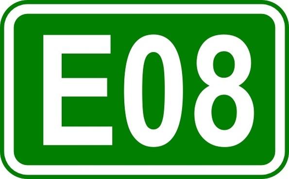 Street Sign Label E08 clip art