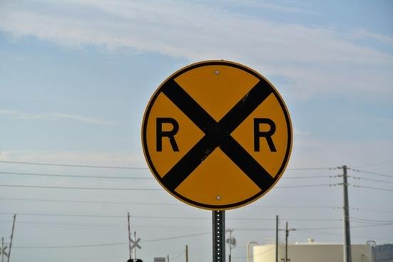 street sign railroad crossing