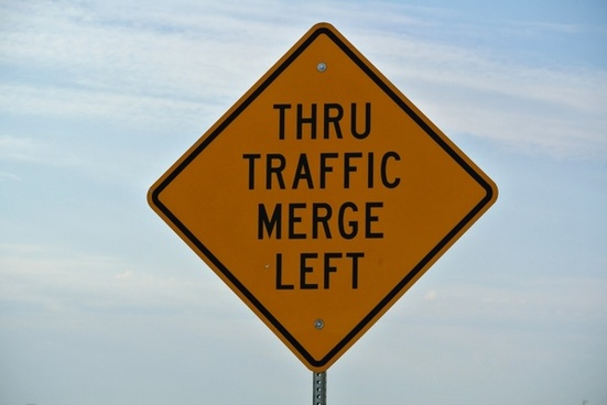 street sign thru traffic