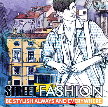 street stylish everywhere hand drawing background vector