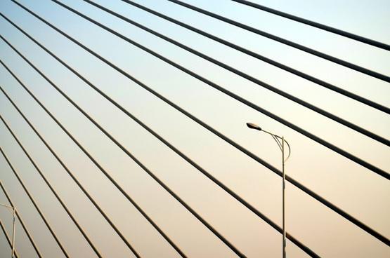 streetlight on bridge