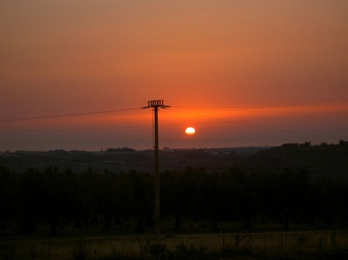 strommast energy power line