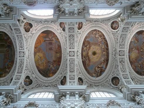 stucco ceiling blanket frescoes
