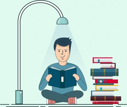 student study vector