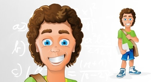 student vector character
