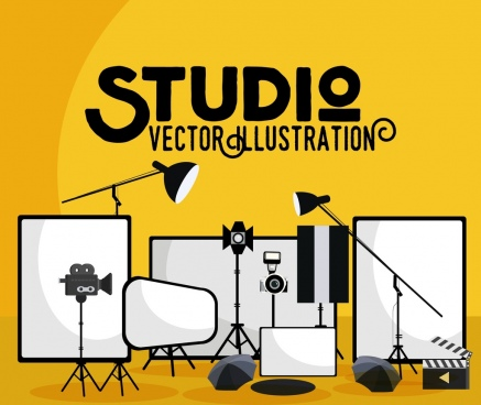 studio background devices design elements
