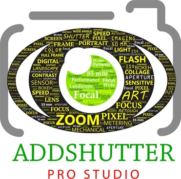 studio banner decoration camera and text collection style