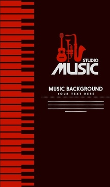 studio music banner design dark color symbol elements