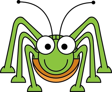 Studiofibonacci Cartoon Grasshopper clip art