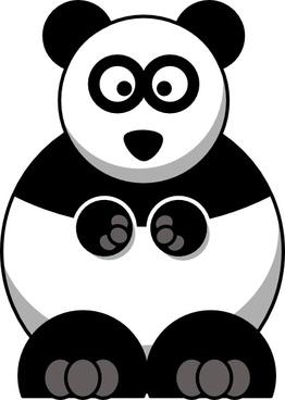 Studiofibonacci Cartoon Panda clip art