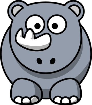 Studiofibonacci Cartoon Rhino clip art