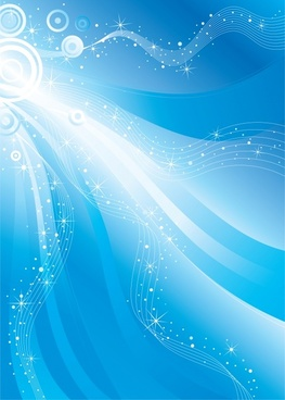 decorative background sparkling dynamic lines blue white decor