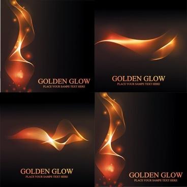 stunning golden light vector