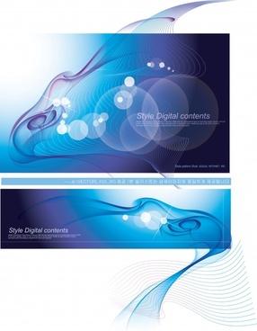 decorative background templates elegant modern dynamic light effect