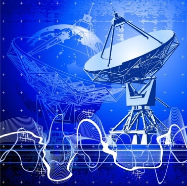 stunning satellite receiver vector