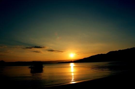 stunning sunset background