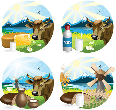 style milk vector graphic