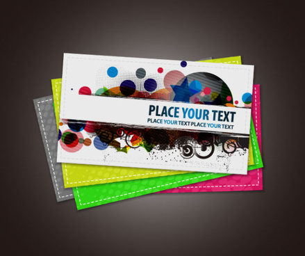 stylish advertising cards design vector