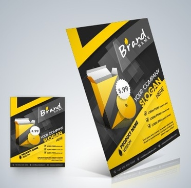 stylish business flyer template design