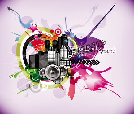 stylish city party vector background