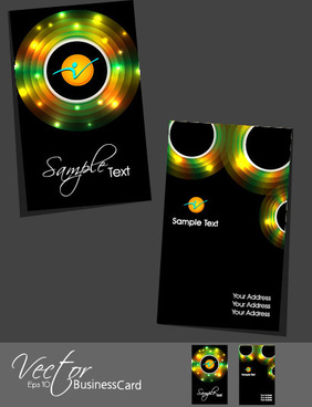 stylish creative cards free vector