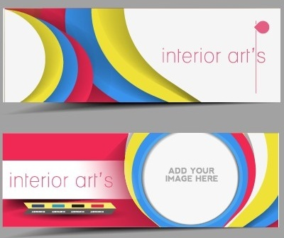 stylish elements banners vector