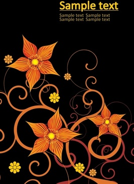 petals background colored dark design flat curves sketch