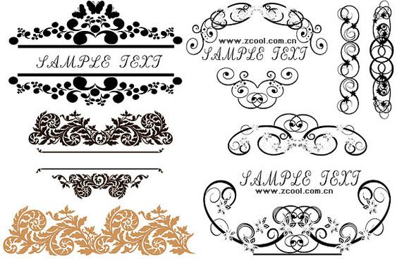 stylish floral border vector