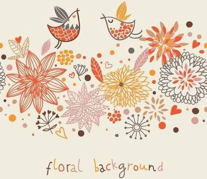 Stylish Floral Vector Background