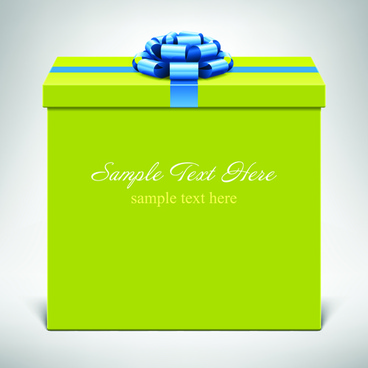 stylish gift boxes with ribbon design vecotr