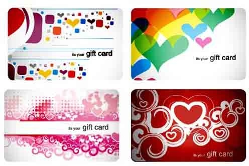 stylish gift cards vector set