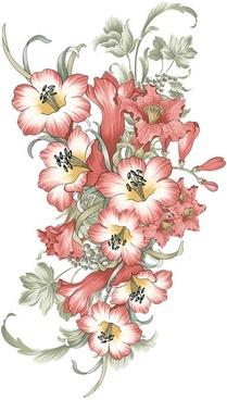 stylish handpainted pattern psd