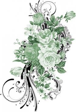 stylish handpainted pattern psd 4