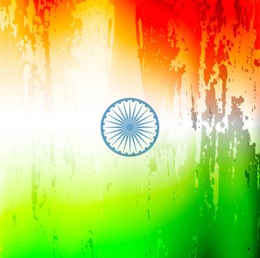 stylish indian flag republic day beautiful tricolor design art vector