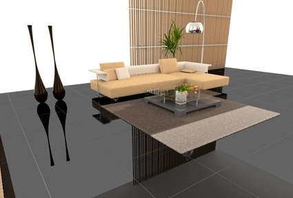 stylish living room renderings picture