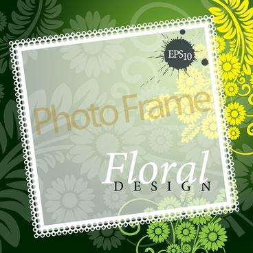 decorative photo frame background elegant blurred flowers decor