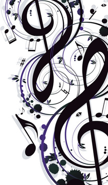 stylish music illustration vector graphic