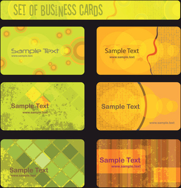 stylish of bus ness cards set